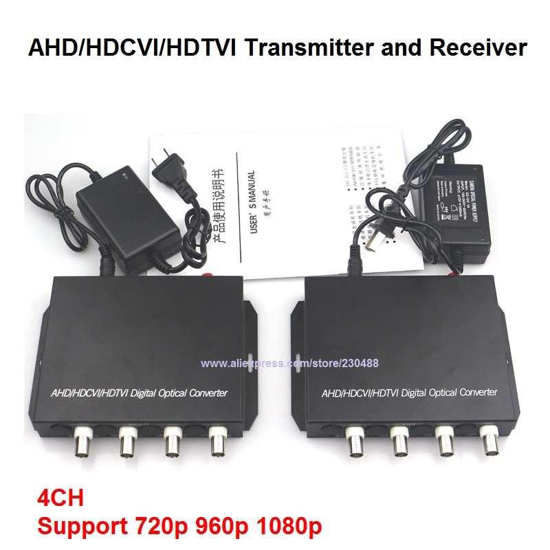 1080P HD AHD CVI TVI Fiber optical video converter, 4 Channel Video Optical Conveter Single Mode 20KM1080P HD AHD CVI TVI Fiber optical video converter, 4 Channel Video Optical Conveter Single Mode 20KM