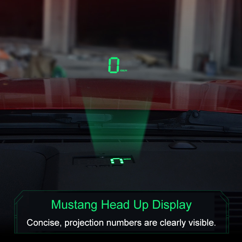 QHCP Car HUD Head Up Display Safe Drive Reflecting Windshield Screen Projector Sticker Fit For Ford Mustang 2015-2018QHCP Car HUD Head Up Display Safe Drive Reflecting Windshield Screen Projector Sticker Fit For Ford Mustang 2015-2018