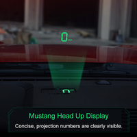 QHCP Car HUD Head Up Display Safe Drive Reflecting Windshield Screen Projector Sticker Fit For Ford Mustang 2015 2018