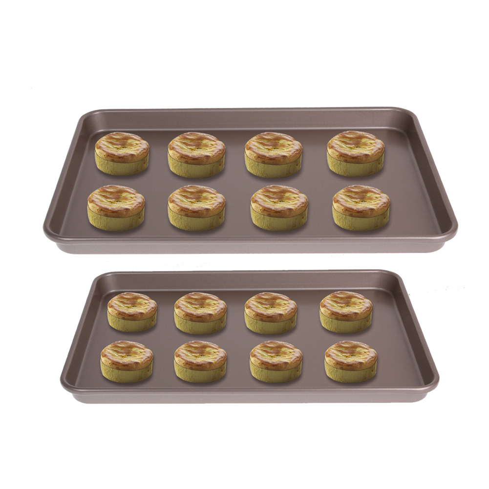 Gold 17inch Shallow Rectangle Non stick Cookie Sheet Bakeware Baking dishes Functional Baking Macaron Cake Pad
