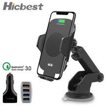 автомобильная беспроводная зарядка в автомобиль авто Инфракрасный держатель телефона Для iPhone X XS XR Max самсунг Samsung Note S9