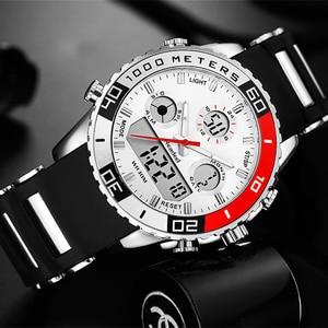 Image 3 - Men Sports Watches Waterproof Mens Military Digital Quartz Watch Alarm Stopwatch Dual Time Zones Brand New relogios masculinos