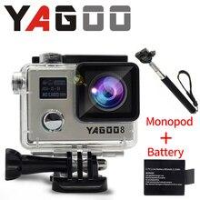 Камеры gopro hero 4 acao estilo 4 К YAGOO8 wi-fi камеры go pro esporte extremo capacete де mergulho prova d agua mini cam