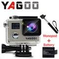 Câmera ação gopro hero 4 estilo 4 k yagoo8 wi-fi câmera ir pro esporte extremo capacete de mergulho a prova d agua mini cam