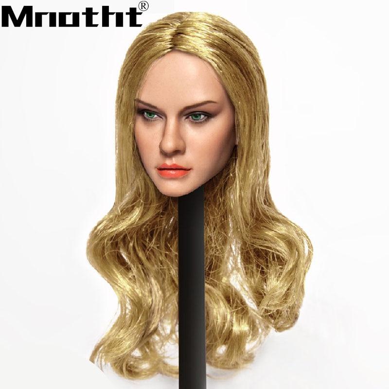 CT012 Female head sculpts 1:6 Scale Female Europe Red Har Brown Hair Golden Hair Head Model toys m5 цена 2017