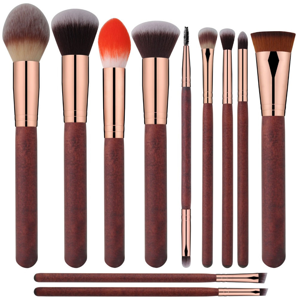 Mily 32 Pcs Bamboo Rod Makeup Brush Foundation Blending