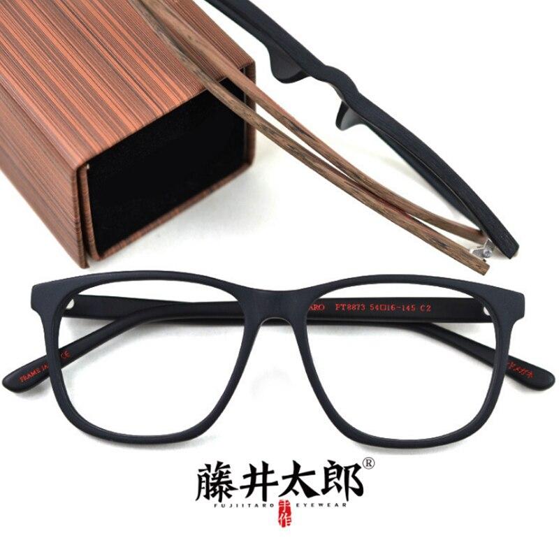 TARO FUJII Spectacle Frame Eyeglasses Men Women Vintage Acetate Myopia Computer Optical Clear Lens Glasses Frame