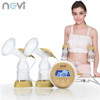Ncvi New Large Suction Double Electric Breast Pump Baby Feeding BPA Free Breast Milk Pump XB 8703 Free Shipping