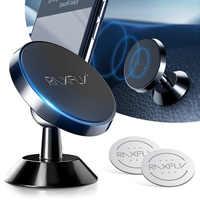 2019 RAXFLY magnética sostenedor del teléfono del coche para el teléfono en Soporte de coche de ventilación de aire del tablero de imán para iPhone X Soporte movil Auto soporte movil auto soporte movil coche telefono