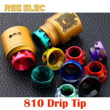 REE ELEC Electronic Cigarette Resin 810 Drip Tips Smoke Mouthpiece Wide Bore Drip Tip For Electronic Hookah Vape Pen