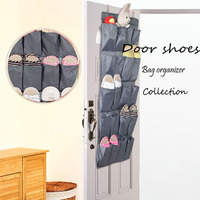Over the Door hanging storage bag shoe organizer with 20 compartments  Grey Series Door/Wall Storage Solution