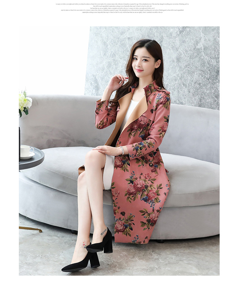 Medium-Length New-Style Coat For Women In Self-Cultivation Windbreakers And Ladies'laced Overcoat