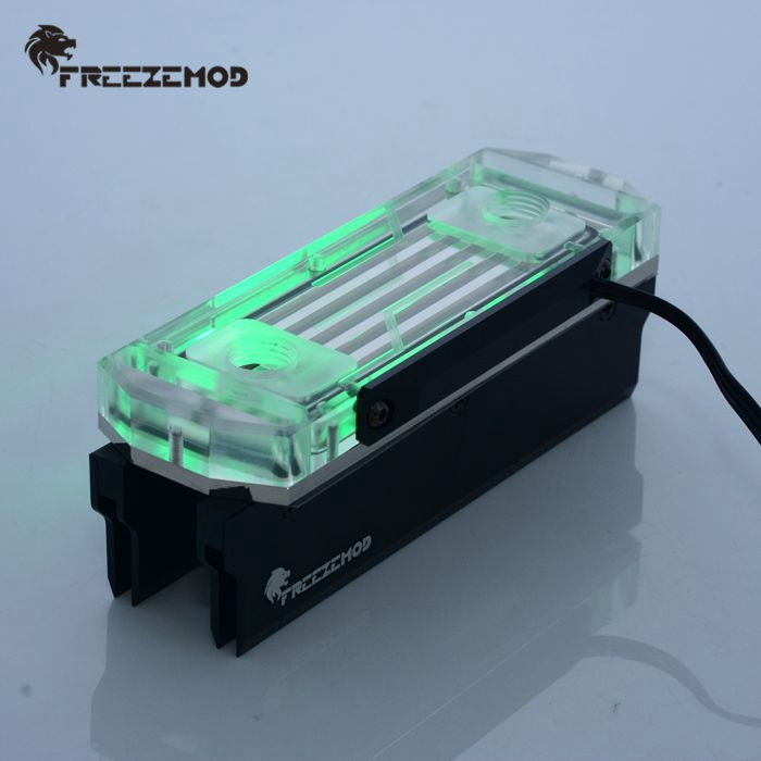 FREEZEMOD Computer Memory Water Cooling Block Compatible With Pirate Ship Comb Support 4 Memory. MEO-PM0A