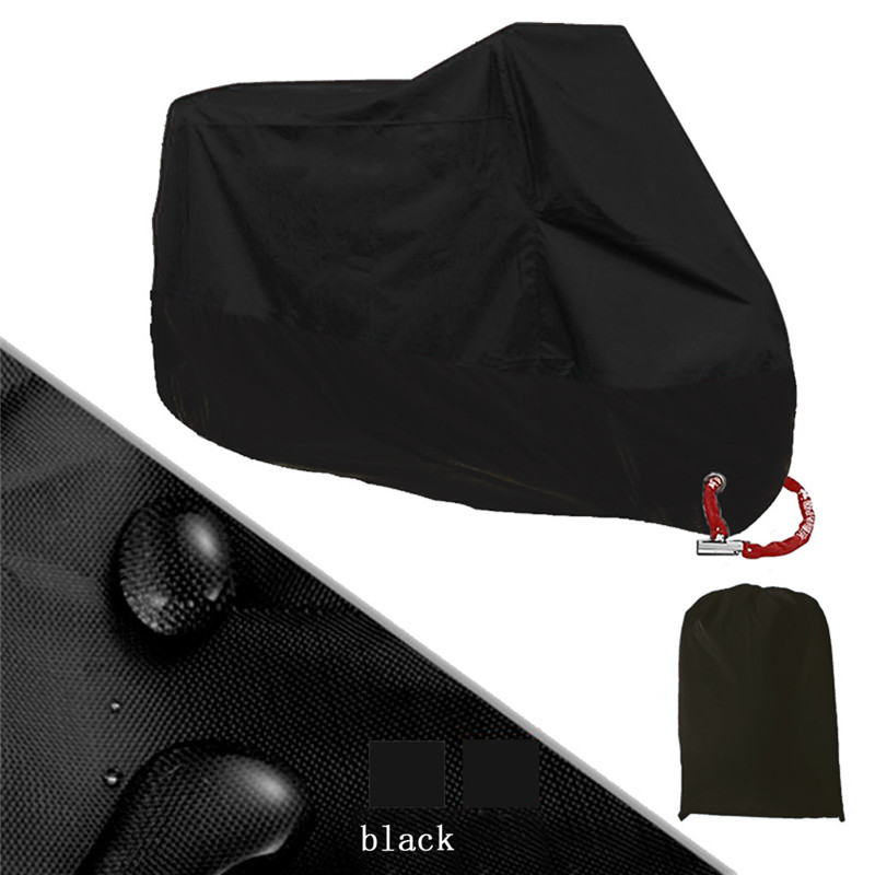 Universal Motorcycle Cover 5 Black Size M L XL 3XL 4XL For Waterproof Dustproof Bicycle Scooter Outdoor UV Protector MTB Bike