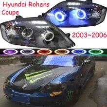 LamRohens 2pcs car styling para lâmpada principal do carro Faróis Coupe 2003 ~ 2006 Rohens Farol Lente Bi Xenon oi lo Feixe HID Fog Lamp