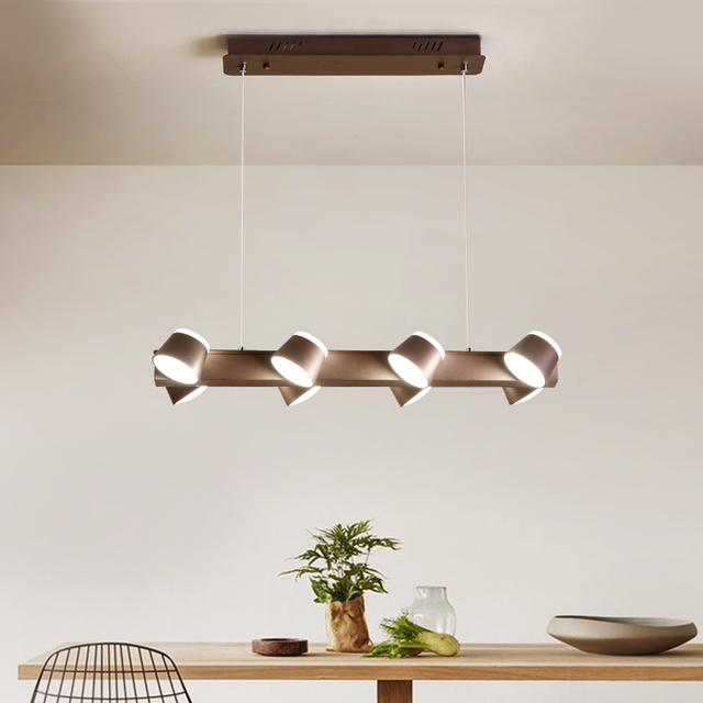 Modern Office Led Light Chandelier Nordic Apartment Loft Reading Lamp Dining Room Chandeliers Industrial Study Iron