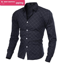 2015 New arrival 9 Colors MensFashion Striped Style Long Sleeve Mens Shirts,Casual Slim Fit Dress Shirts,SIZE M-2XL,GX5184