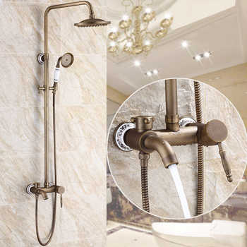 Free Shipping BAKALA antique bronze bathroom rainfall faucets and shower GZ6007 - DISCOUNT ITEM  20% OFF All Category