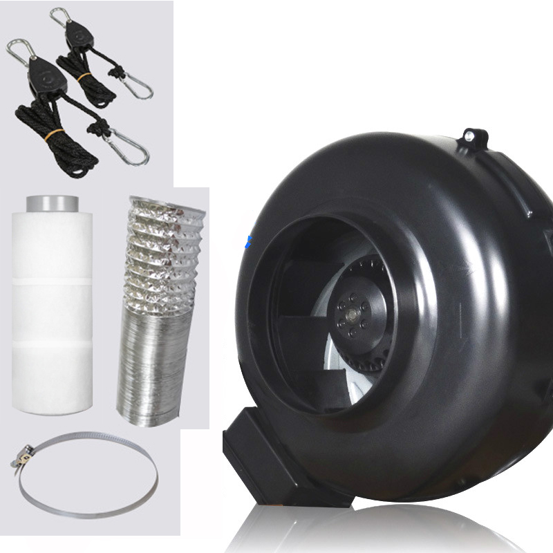 LM1181 4 pollice Inline Ventola di Scarico Ventilatore Ventilatore Centrifugo e Filtro Aria In Carbonio Condotto di Canalizzazione per Crescere Kit Coltivazione Serra ventilatore