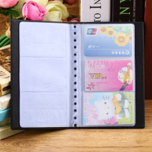 Fashion Business Credit Card Holder PU Leather Cards Holders Organizer Manager 60 Cards ZH275(China)