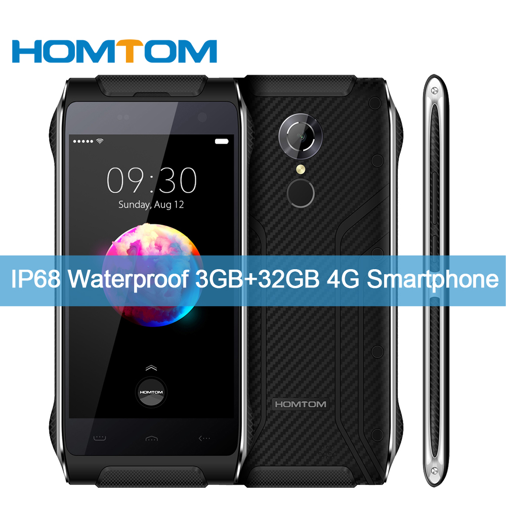 bilder für Original homtom ht20 pro ip68 wasserdicht 4g-lte smartphone mtk6753 octa-core 3g + 32g 8mp + 16mp kamera 4,7 zoll 3500 mah handy