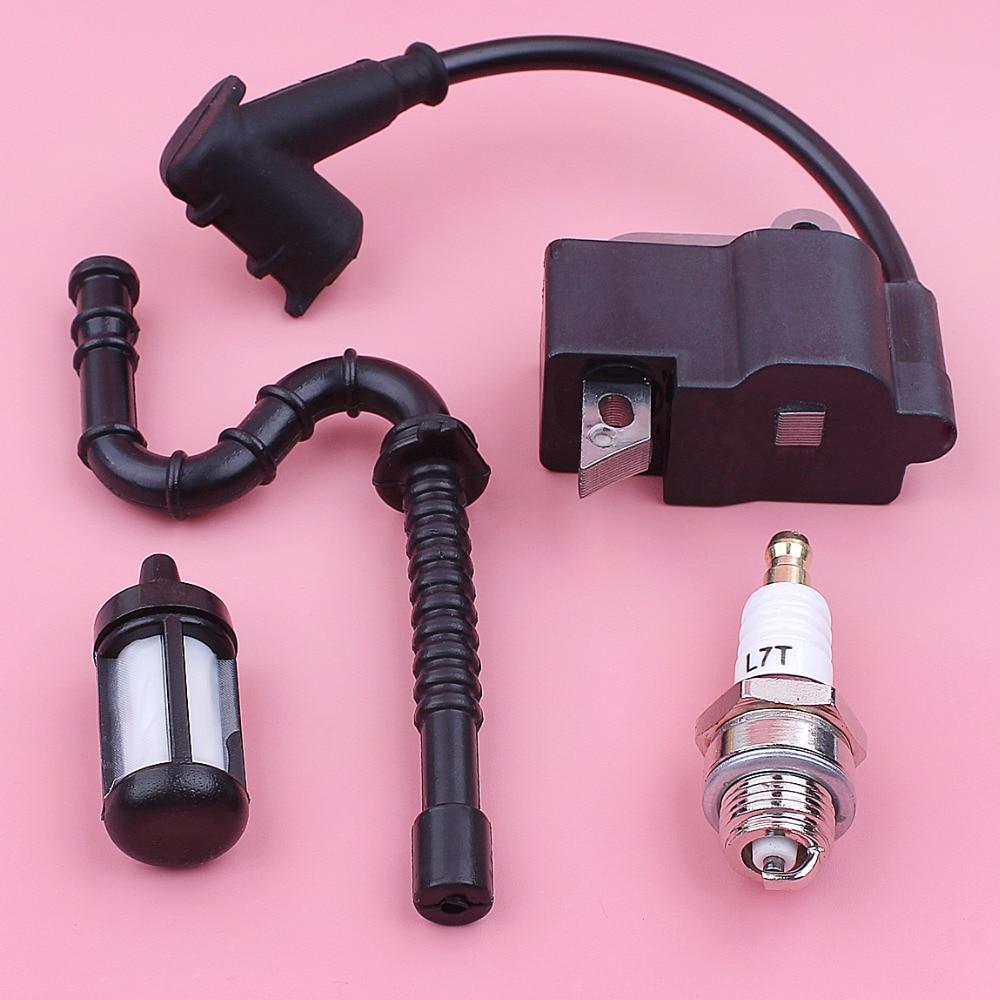 Катушка зажигания Свеча зажигания топливный фильтр линия шланг комплект для Stihl MS270 MS280 MS 270 280 бензопила запасные части