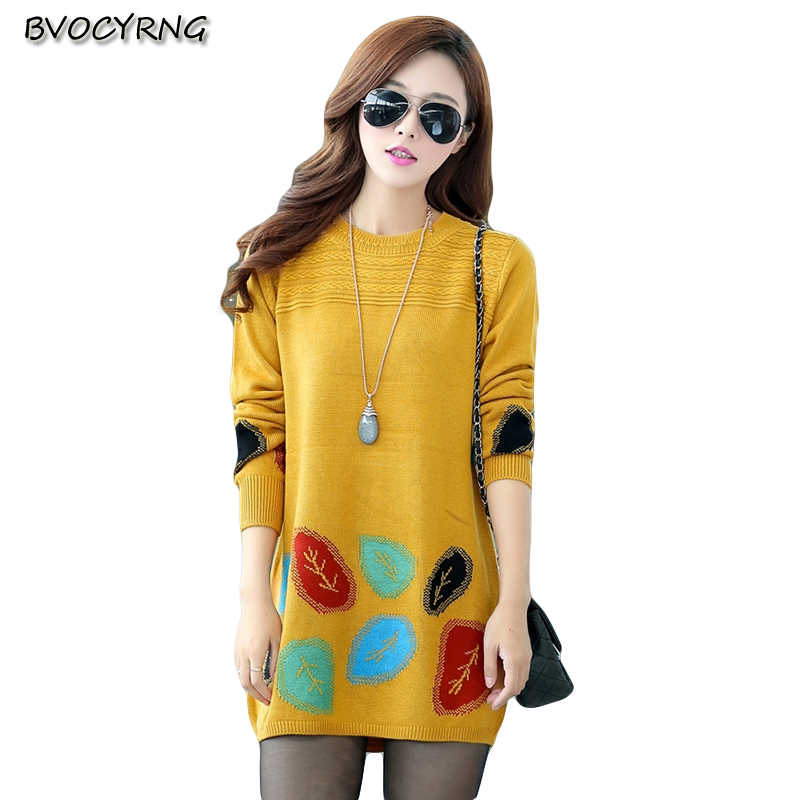 2017New Hot Spring Autumn Wanita Longgar Sweater pullover Lengan Panjang Jaket Plus Ukuran High-end Sexy Wanita Panjang Knit mantel A0108