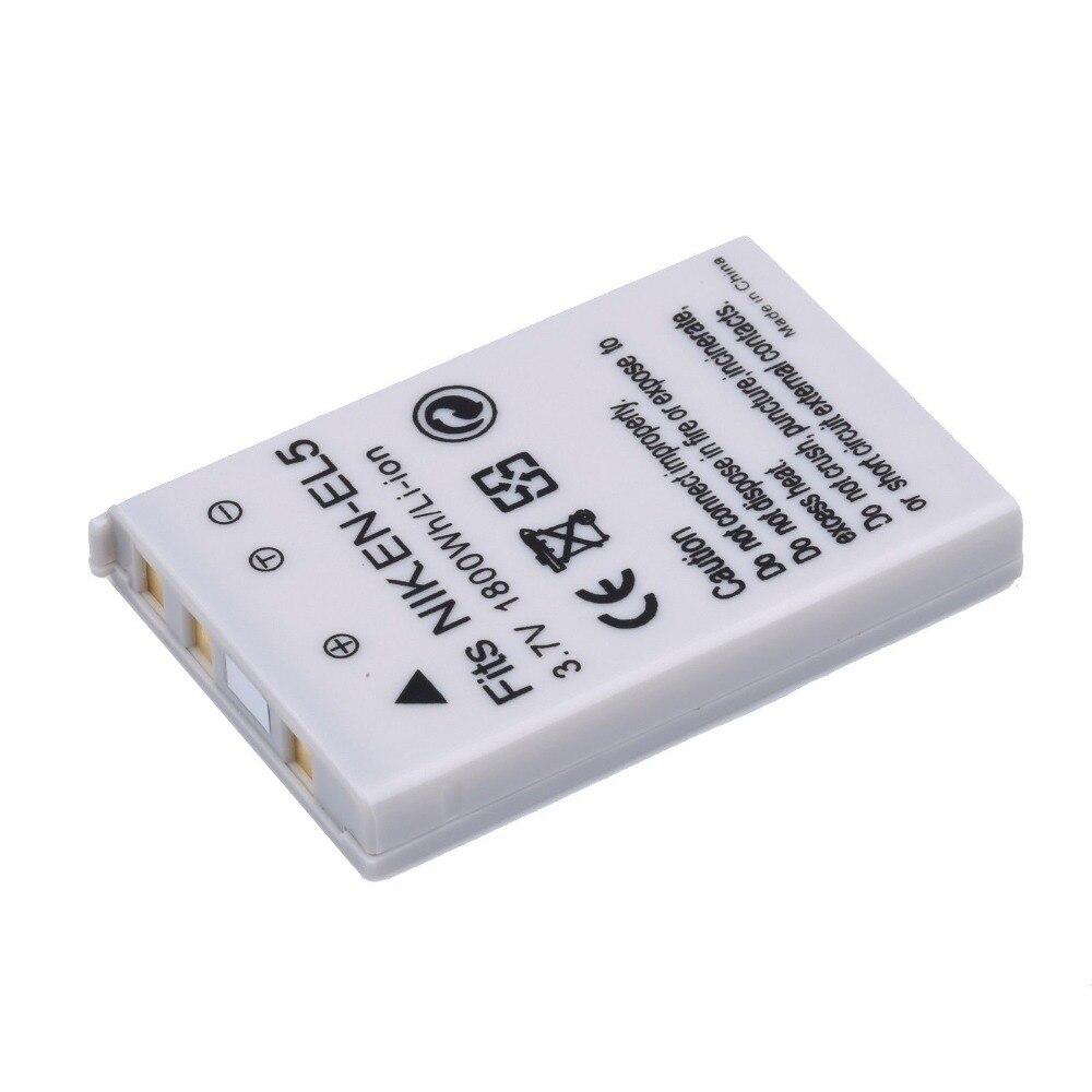 1800mAh EN-EL5 ENEL5 EN EL5 Camera battery bateria For NIKON Coolpix 3700 4200 5200 5900 P80 P90 P100 P5 Digital Camera Battery