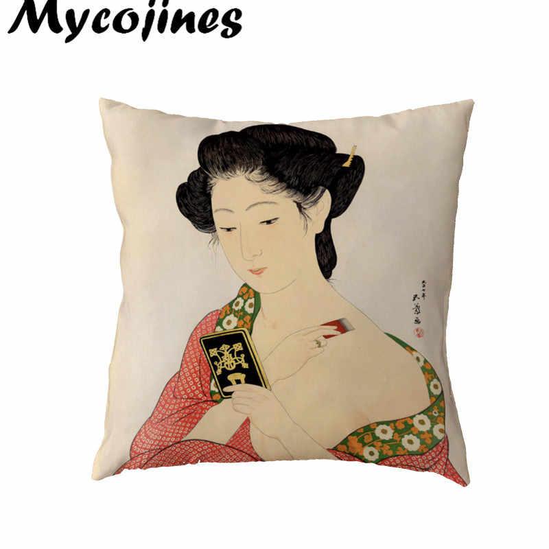 Все виды людей чехлы на подушку женское кимоно Para Almofada Кемпинг кролик с воланами с бантом с острым углом домашний офис кровать диване украшение