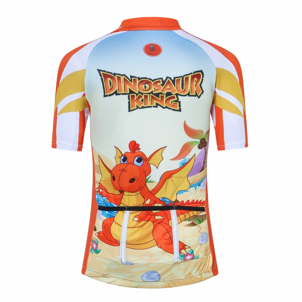 Aliexpress.com   Buy Weimostar Cycling Children Jersey dinosaur Orange Bike  Clothing Riding High quality Boy Girl Biking Jersey from Reliable Cycling  Sets ... 3084910b0