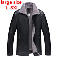 large size 8XL 7XL 6XL 5XL Winter real Leather Jacket for Men Fashion Brand Brown Sheepskin Jackets and Coats with Wool Lining