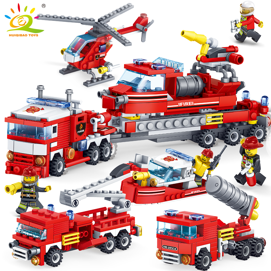 Model Building Dependable Diy Building Blocks Accessory Baby Assembling Toys For Children Car Figures Fireman Fire Hydra Compatible With Duploed Bricks