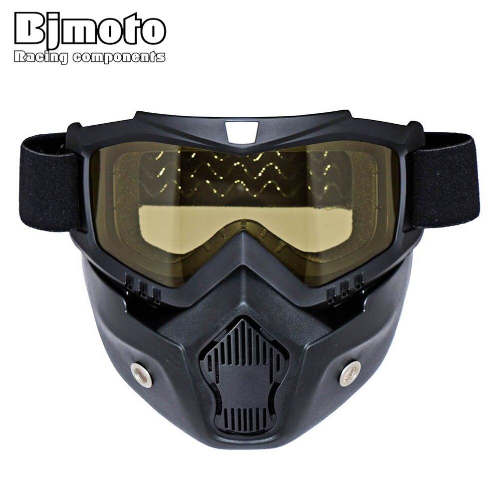 Новый bjmoto модульная маска Съемный очки и рот фильтр идеально подходит для открытым Уход за кожей лица винтажные мотоботы Шлемы COOLPLAY маска