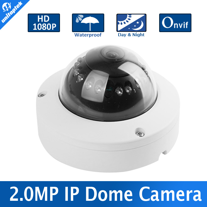 Mini Dome Onvif IP Camera 1080P Outdoor HD Network CCTV Camera 2MP 1080P Security IR-Cut P2P Support Phone Android IOS View