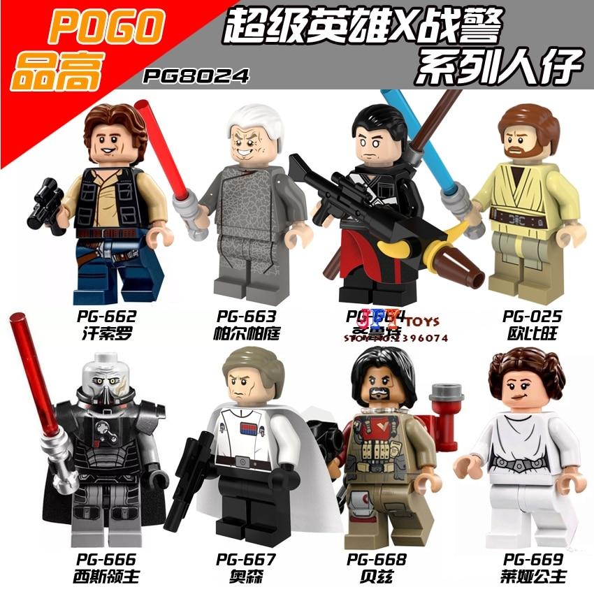 80pcs super hero PG8024 Rogue One Obi-Wan Darth Malgus building blocks bricks friends for games kid children toys iluminador