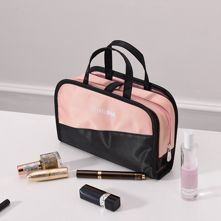 Image 4 - Waterproof Travel Storage Bag 2 in 1 Cosmetic Bag High Capacity Make Up Organizer Portable Wash Bags necessarie para maquiagem-in Storage Bags from Home & Garden