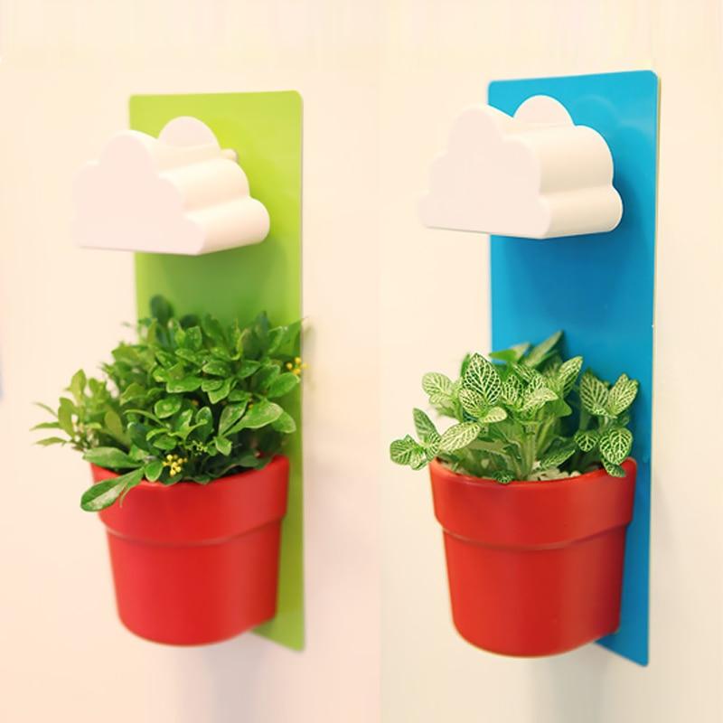 new creative designed cloud rainy pot wall hung plant flower pot vase
