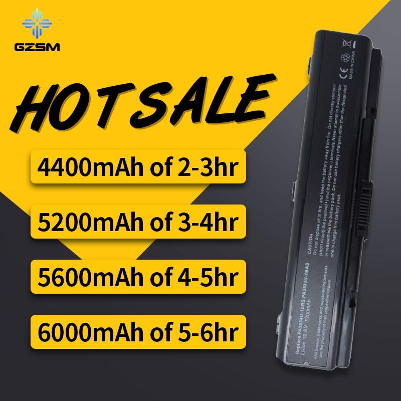 HSW Laptop Battery For Toshiba Pa3534 PA3534U-1BAS PA3534U-1BRS Battery For Laptop A300 A500 L200 L300 L500 L550 L555  Battery