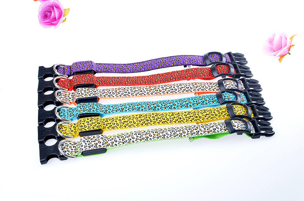 Nylon Led Pet Dog Collar Night Safety Flashing Glowing Collar Leash For Dogs Luminous Fluorescent Pet Supplies Drop Shipping #ys #2