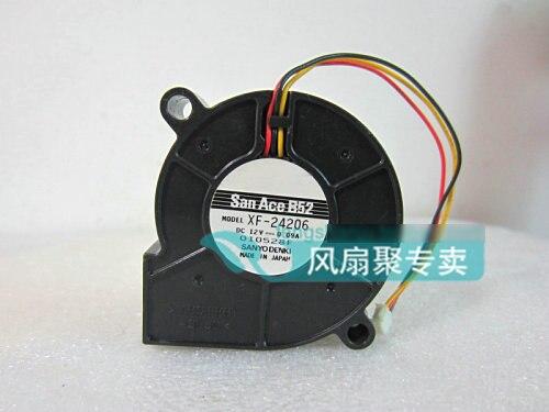 Original Sanyo XF-24206 5cm 5015 12V 0.09A 3 lines projector blower  cooling fan original sanyo xf 24206 5cm 5015 12v 0 09a 3 lines projector blower cooling fan