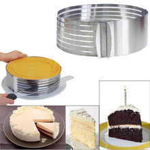 24-30cm Stainless Steel DIY Adjustable Retractable Circular Ring Cake Layered Slicer Baking Tool Kit Set Mousse Mould Slicing