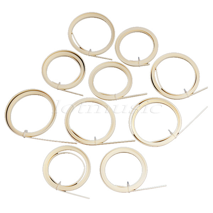 10 Pcs Guitar Binding Purfling Strips ABS Guitar Parts Accessories for Luthier Supplies 5 Feet 10mm 6 Color Available new luthier tool electric violin purfling groove cutter q1