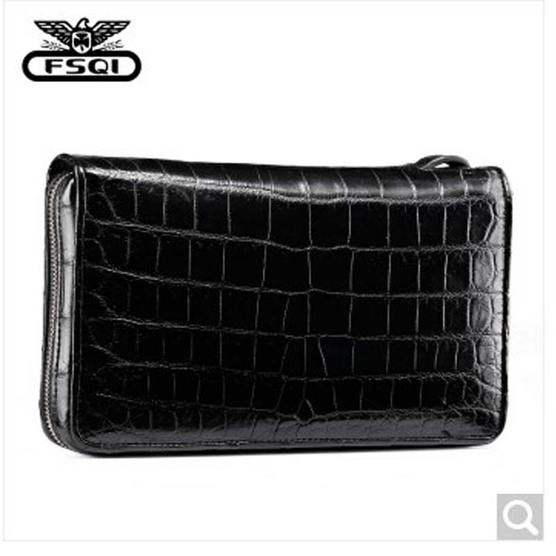 fasiqi 2019  new crocodile leather mens bag fashion Korean version, leisure, multi-functional, large-capacity men clutch bag fasiqi 2019  new crocodile leather mens bag fashion Korean version, leisure, multi-functional, large-capacity men clutch bag