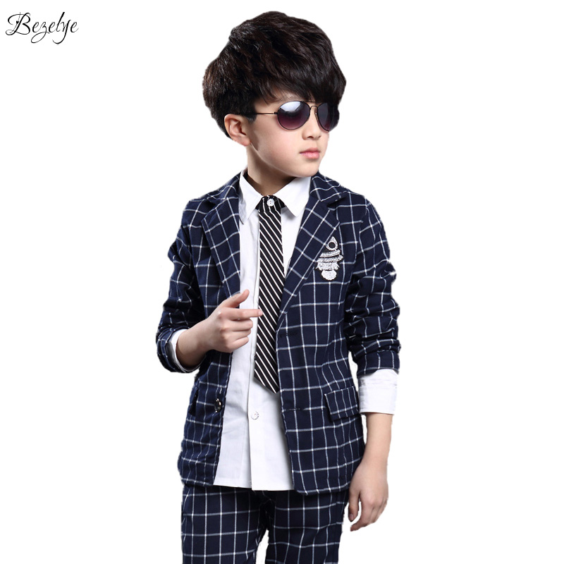 ФОТО 2016 Fashion Boys Plaid Blazer Blue And Red Boys Suits For Weddings Blazers For Boys Spring Autumn Children Boys Plaid Blazer