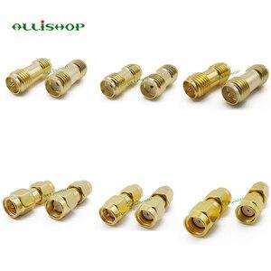 Image 2 - 18 Pcs SMA Connector Kits Adapter SMA RP SMA Mannelijke en Vrouwelijke RF Coax Koppeling Moer Converter Voor WIFI Antenne verlengkabel