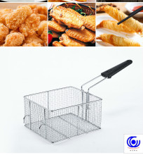 14 Frying basket commercial stainless steel net square encrypted French fries frame filtering screens round Colanders Strainers