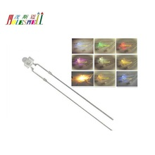 10pcs 1.8mm Red Yellow Blue Green White Orange Purple Pink Warm white water clear lens LED light lamp