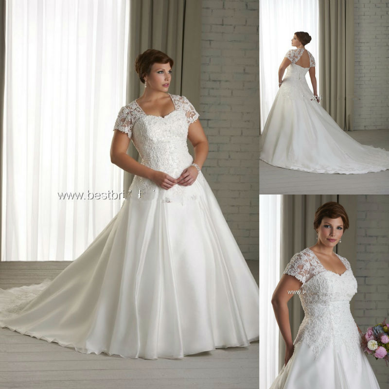 Sweetheart Neckline Cap Sleeve With Short Sleeves Plus Size Bridal Dress Beaded Lace Wedding Dresses A Line Train 2017 In From Weddings