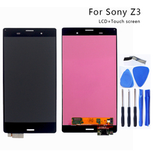 For Sony Xperia Z3 LCD Display Touch Screen Digitizer Assembly For Sony Xperia Z3 lcd L55T D6603 D6653 Display Screen LCD+Tools black white 5 2 lcd for sony xperia z3 lcd display touch screen digitizer glass assembly l55t d6603 d6643 d6653 tape tools film