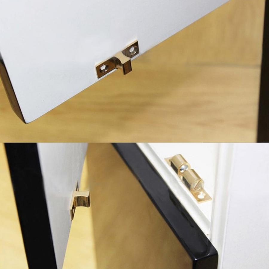 SOLID BRASS CABINET LATCH Spring Loaded Gold Cupboard Wardrobe Door Lock Catch